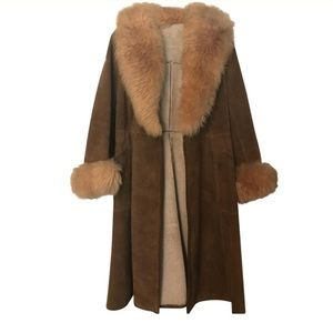 Almost Famous VINTAGE Faux Fur and Suede Coat